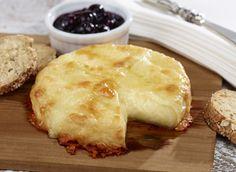 Cedar Baked Cheese Duo with Birch Syrup & Blueberry Relish