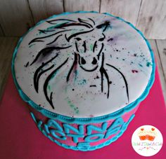 Handpainted Horse Cake by Wish I Had A Cake More