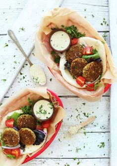 A Perfect and Easy Vegan Falafel Recipe. Falafel is often the best and only plant- based food a vegan can find on the way. It is a very tasty Mediterranean Vegetarian Dinners, Vegan Vegetarian, Vegetarian Recipes, Healthy Recipes, Vegetarian Sandwiches, Going Vegetarian, Vegetarian Breakfast, Vegan Food, Baker Recipes