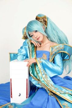 Sona from League of Legends.