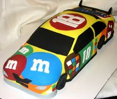 Kids want a Nascar cake like this one for Dad. (except make it a 88 car)