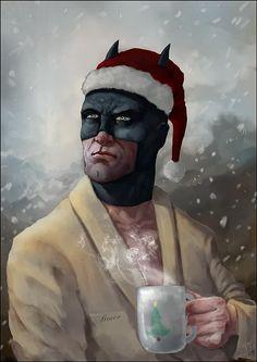 Batman Christmas card.