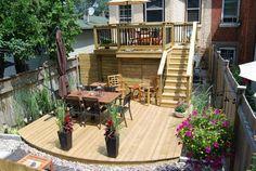 Two tiered decked garden