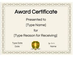 Free Printable Certificate Templates | Customize Online