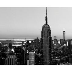 Black and White, New York City Skyline Print, Urban, Travel, Wall... ($14) ❤ liked on Polyvore featuring home, home decor, wall art, black and white wall art, nyc wall art, new york city home decor, skyline wall art and ny wall art