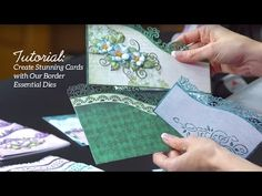 Quick Tips and Techniques with Border Essential Dies to Create Stunning Cards - YouTube