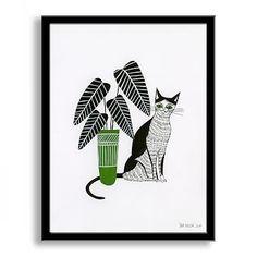 Sam Kalda Wall Art - Cat and a Plant #westelm