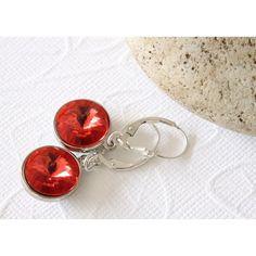 Swarovski Crystal Rivoli Earrings, Dangle Earrings, Crystal Earrings,... ($25) ❤ liked on Polyvore featuring jewelry and earrings