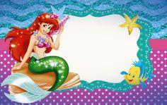 Birthday Invitations Princess Little Mermaids 50 Ideas Mermaid Theme Birthday, Little Mermaid Birthday, Little Mermaid Parties, Ariel Mermaid, Ariel The Little Mermaid, Mermaid Pinata, Free Birthday Invitations, Invites, Little Mermaid Invitations