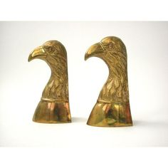 Brass Eagle Bookends Pair of Vintage bookends by vandreyindustries Copper, Brass, Bookends, Eagle, Pairs, Antiques, Metals, Creative, Handmade