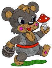 Baby Bear Embroidery design - Machine Embroidery Designs