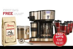 Amora Coffee, super-premium coffee, small batch roasted just for you. Free Gift Cards, Free Gifts, Get Free Iphone, Coffee Delivery, Coffee Canister, Coffee Accessories, Premium Coffee, Thing 1, Grocery Coupons
