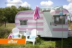 befor and after camper make overs | Camper makeover for a garden retreat! http://www.apartmenttherapy.com ...
