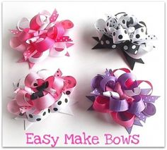 DIY Boutique Hair Bows 300x271 How To Make Boutique Style Hair Bows