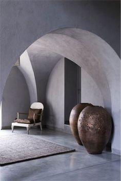 Interior Design Addict: Arch ways & Copper Interior Exterior, Exterior Design, Interior Architecture, Copper Interior, Beautiful Architecture, Moraira, Tadelakt, Beautiful Interiors, Decoration