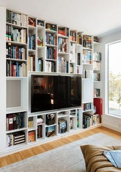 Wall Units Glamorous Bookcase With Tv Shelf Bookshelf Tv Stand Regarding Tv Bookcase Wall Unit Plans Plan Hd Wallpaper Photos Tv Stand Bookshelf, Tv Bookcase, Bookshelves With Tv, Bookshelves In Living Room, Bookshelf Design, Living Room Tv, Bookshelf Storage, Bookshelf Ideas, Bookshelf Styling