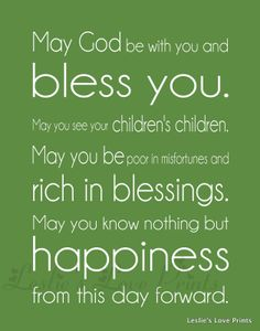 We have this blessing in our home - we love it.