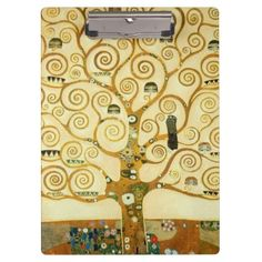 Gustav Klimt The Tree Of Life Art Nouveau Clipboard