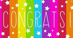 "Rainbow stripes and white stars share your ""Congrats! Shop for Congratulations Greeting Cards today! Happy Birthday Tag, Birthday Tags, Birthday Quotes, Birthday Greetings, Birthday Wishes, Congratulations Greetings, Congratulations Grandma, Congratulations Quotes Achievement, Congrats Cards"