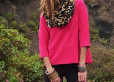 love the combination of animal print and the impact color