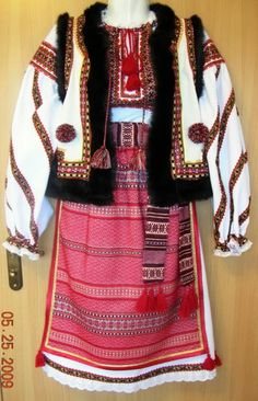 Ukrainian Hutsul Costume: Hutsul vest, Hutsul sash, Hutsul skirt / plahta and underskirt Ethnic Fashion, Womens Fashion, Ukrainian Art, Costumes For Women, Traditional Outfits, Couture, Sash, Ukraine, Style Inspiration