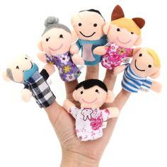 6 Pcs Finger Puppets Plush Cloth Toy Baby Bed Stories Helper Doll  What does include #goodbuy:  Enjoyable shopping at cheapest prices Best quality goods 24/7 support & easy communication 1 day products dispatch from warehouse Fast & reliable shipment (7-25 business days)   ...