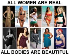 All bodies are real. No body shaming.