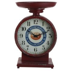 Shelley B Home and Holiday - RAZ 18.5 Kitchen Scale Clock, $119.00 (http://shelleybhomeandholiday.com/raz-18-5-kitchen-scale-clock/)