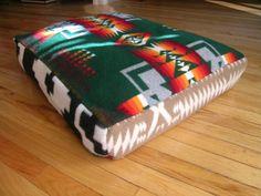 pendleton bed* | Pendleton Blanket Pillow Washable Dog Bed by oregonwoolygoods