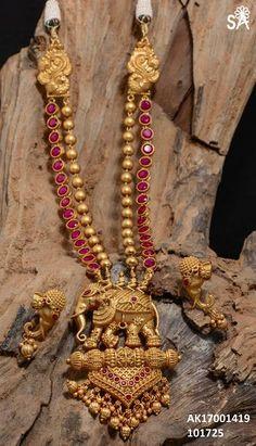 Gold Jewelry Design In India 1 Gram Gold Jewellery, Real Gold Jewelry, Gold Jewelry Simple, Gold Jewellery Design, Turquoise Jewelry, Fine Jewelry, Golden Jewelry, Temple Jewellery, Pearl Jewelry