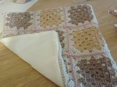 How to sew crochet cushion covers backed with fabric -hoppingStill
