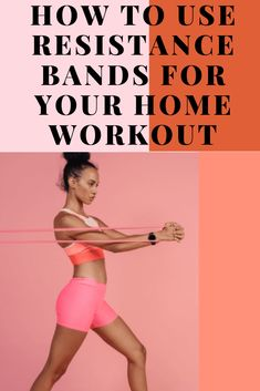 Resistance bands are compact, inexpensive, and easy to take and use anywhere. Here's how to use resistance bands to power your home fitness workout. Weight Training, Weight Lifting, Weight Loss Success Stories, Bench Press, Losing 10 Pounds, Muscle Groups, How To Slim Down, Workout Challenge, Biceps