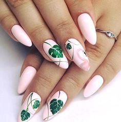 Tropical Nail Designs, Tropical Nail Art, Bright Nail Art, Pink Nail Art, Cute Summer Nails, Cute Nails, Nail Summer, Summer Beach, Flamingo Nails
