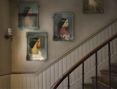 Ida collection. #tray #artwork #design #home #decoration #wall http://www.ibride.fr/galerie-de-portraits/