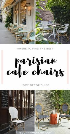French Bistro Chairs With Classic And Chic Parisian Style