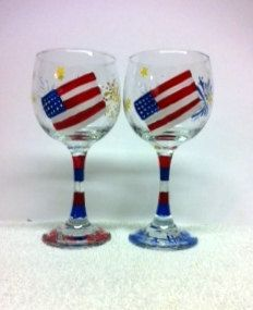 democratic painted wine glass - Google Search