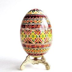 Super Duper Traditional Easter egg Pysanka by UkrainianEasterEggs