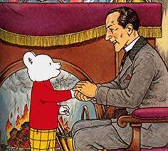 Rupert Bear with Sherlock Holmes