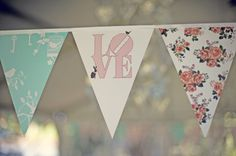 Love this LOVE triangle banner!