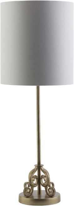 Ackerman Traditional Table Lamp Painted Gold Tint White