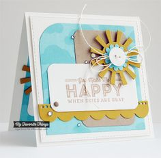 Blue Skies Ahead, Blueprints 14 Die-namics, Sun Moon & Stars Die-namics, Cloudy Day Stencil - Inge Groot #mftstamps