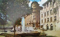 Esto era la Zona Rosa , atrás el Hotel #Ancira #Monterrey , se veia tan nice