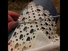 Ideas for crochet lace edging ganchillo Crochet Boarders, Crochet Edging Patterns, Crochet Lace Edging, Crochet Motifs, Crochet Squares, Filet Crochet, Crochet Doilies, Crochet Stitches, Diy Crafts Crochet