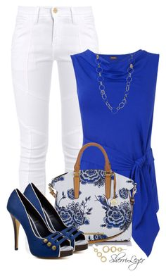 """Untitled #891"" by sherri-leger ❤ liked on Polyvore featuring Frame Denim, Phase Eight, Brahmin, Charles by Charles David, Trina Turk LA and Blue Nile"