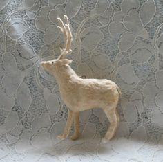 Spun Cotton Christmas Ornament.....Vintage by iamcameo on Etsy, $23.00