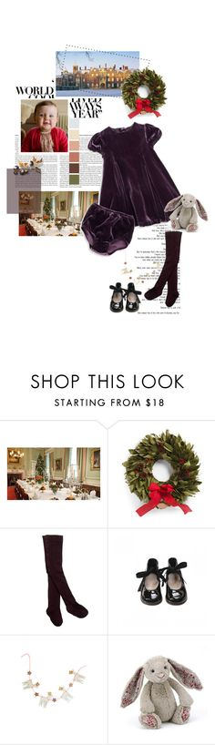 """""""Untitled #2409"""" by duchessq ❤ liked on Polyvore featuring Ralph Lauren, Bonpoint, Ana Accessories and Jellycat"""