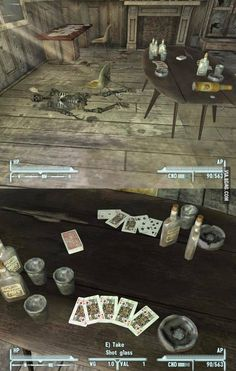 """There are a lot of these """"unexplained"""" skeletons in Fallout Fallout 4 Funny, Fallout Comics, Fallout 4 Mods, Fallout Art, Fallout New Vegas, Gamer Humor, Gaming Memes, Video Game Memes, Video Games"""