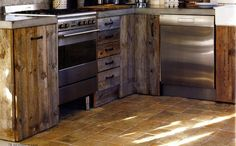 Kitchen using recycled materials