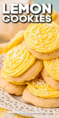 We love this easy Lemon Cookies recipe! Infused with fresh lemon juice & zest, then topped with a light & lemony frosting, these cookies are a must-make dessert. #spendwithpennies #lemoncookies #recipe #cookies #dessert #snack #fresh #homemade #soft #chewy Homemade Banana Bread, Banana Bread Recipes, Lemon Recipes, Sweet Recipes, No Bake Cake Pops, Lemon Cookies Easy, Andes Mint Cookies, Zucchini Cookies, Cookie Recipes