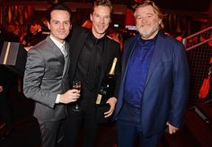 Andrew Scott, Benedict Cumberbatch and Brendan Gleeson attend an after party celebrating The Moet British Independent Film Awards 2014